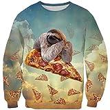 Goodstoworld Christmas Pullover Faultier Familie Hässlicher Weihnachtspullover 3D Junge Weihnachten Sloth Ugly Christmas Sweater XL