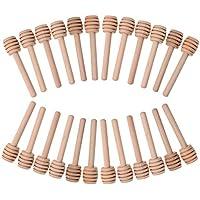 24Stück Mini Holz Honig Dipper Sticks Server für Honig Jar verzichten Drizzle Honig und Hochzeit kleine Geschenke–7,6cm einzeln verpackt