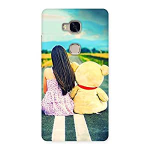Gorgeous Girl Teddy Multicolor Back Case Cover for Huawei Honor 5X
