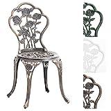 CLP Gartenstuhl Sharma im Jugendstil | Aluminiumstuhl mit Verstellbaren Standfüßen | in Verschiedenen Farben erhältlich Bronze