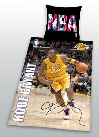 Parure de lit Kobe Bryant basket-ball - Housse de couette 140 x 200 + Taie d'oreiller