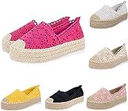 Women's Wedge Shoes,SCIKOU Hollow Platform Casual Shoes Solid Color Breathable Espadrilles Tennis Loafers