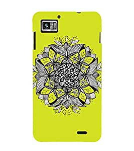 For Lenovo K860 :: Lenovo IdeaPhone K860 flower, floral design, yellow background Designer Printed High Quality Smooth Matte Protective Mobile Case Back Pouch Cover by APEX