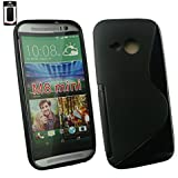 Emartbuy® HTC One Mini 2 Ultra Slim Gel Hülle Schutzhülle Case Cover Schwarz