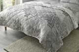 Fusion Alena Reversible Quilted Bedspread Set, Silver, 200 x 150 Cm