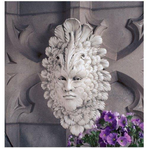 Design Toscano Gegenwart des Karnevals: Blattmaske, Wandfigur
