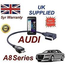 AUDI A8 Serie 2007+ AMI MMI Cable para Blackberry Z10 4F0051510M MICRO Cable USB