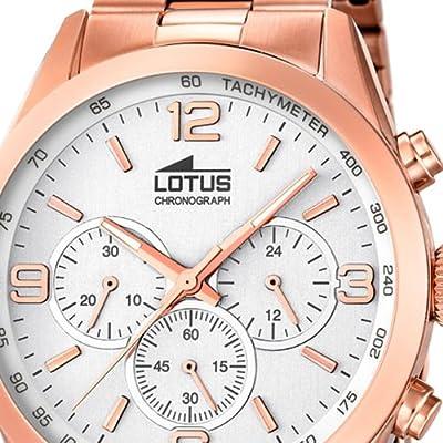 Reloj Lotus de hombre en acero color cobre modelo 18154/1. Taquímetro de Lotus