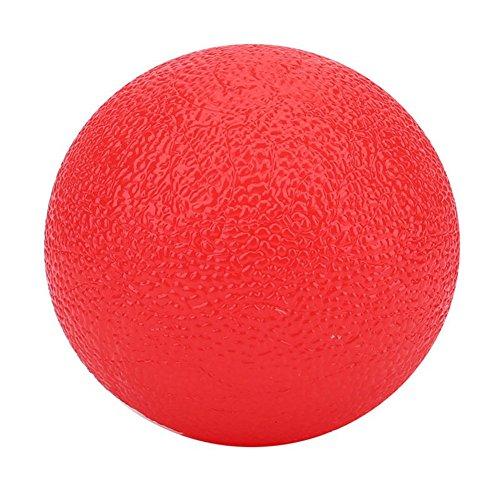 collectsound Silikon-Griffball für Hand, Fingerstärke, Stressabbau, Massagespielzeug für Erwachsene Einheitsgröße rot (Gesundheit-fitness-zyklus)