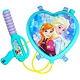 Toyshine Startoys Holi Water Gun with High Pressure, Back Holding Tank, 1.2 L, Disney Frozen, Heart Shape, Blue