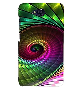 PRINTVISA Abstract Pattern Case Cover for Micromax Canvas Play Q355