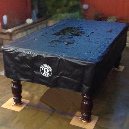 Jonny 8 Ball Billardtisch-Abdeckung, UV-beständig und wasserabweisend, geeignet für 2,44m große Pool-Tische