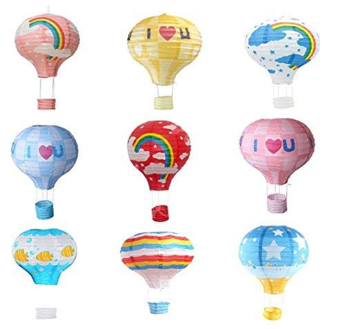 Matissa 9Stück Hot Air Ballon Papier Laterne Hochzeit Party Dekoration Craft Lampenschirm, 16