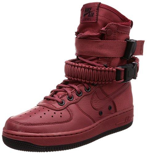 Nike Unisex Schuhe Wmns SF Air Force 1 Leder und Rot Stoff 857872-600