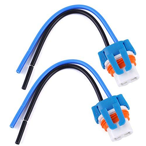 beler 2 Stück 9006 HB4 Keramik Birne Sockel Halter Stecker Adapter mit Kabelbaum -