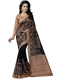 Macube Women's Bhagalpuri Silk Saree With Blouse Piece (Ms1375_Saree_Multi-Coloured)