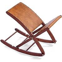 Bascule pour jambes classique HC Handel 936193-32x 36cm-Bois massif marron avec revêtement en cuir synthétique