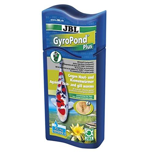 JBL 27136 Heilmittel gegen Haut Kiemen- und Bandwürmer bei Teichfischen, GyroPond Plus, 500 ml