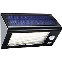 AMIR Solarleuchten Garten, 24 LED Solarleuchte mit Bewegungsmelder, Wandleuchte Außen, 4 Modi Sicherheit Bewegungs-Sensor-Licht, IP65 Waterproof Solar Außenleuchte für Garten, Zaun, Terrasse, Garage, Treppe usw.