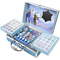 Frozen II Princess Makeup Traincase - Neceser Frozen II, Set de Maquillaje para Niñas - Maquillaje Frozen - Selección de Productos Seguros en un Maletín de Maquillaje Color Azul de Talla Única