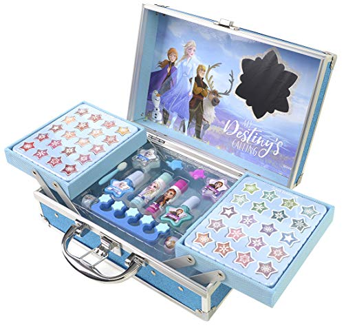 Disney Frozen Makeup Traincase, Color Azul (Markwins Beauty Brands 1599018E)