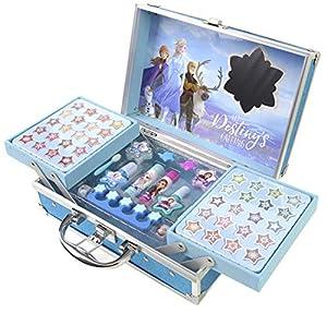 Disney Frozen- Makeup Traincase, Color Azul, Talla Única (Markwins Beauty Brands 1599018E)