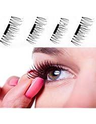 lzndeal Faux Cils magnétique 3D Faux Cils Naturel fait à la main Allongement volumineux Vison Authentique Pour maquillage yeux 001 …