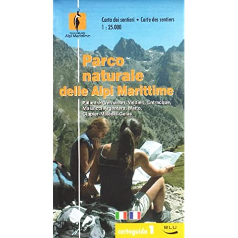 Parco naturale delle Alpi Marittime. Carta dei sentieri 1:25.000. Ediz. italiana e francese - Zoo Blu Animali