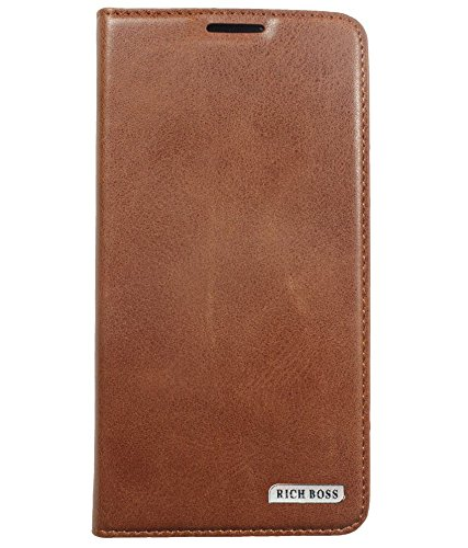 OMA™ Samsung Galaxy ON5 Rich Boss Synthetic Leather Flip Flap Cover Case with Stand/Wallet (Brown)