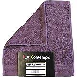 Just Contempo - Toalla (algodón egipcio, suave, 600 gsm), toalla para la cara 30 x 30 cm, morado