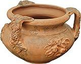 Vase, gealtert in terracotta Toscana Durchm.60x 44cm