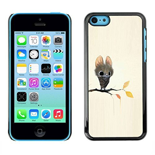 Tasche Schutzhülle Case schützend Hülle Für Apple Iphone 5C / Business Style Bat Cartoon Fairy Tale Cute Big Eyes Animal (Bat 5c Phone Case)