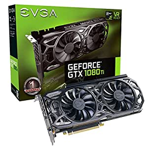 EVGA GeForce GTX 1080 Ti SC Black Edition GAMING, 11GB GDDR5X, iCX Cooler & LED, Optimized Airflow Design, Interlaced Pin Fin Carte Graphique 11G-P4-6393-KR