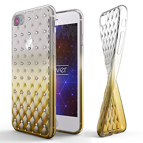 Urcover® Apple iPhone 7 / 8 Soft Case in Rosa | TPU Diamond 3D Gradient Cover | Trendy Handyschutz Zubehör Handy-Cover Schutz-Hülle Schale Gelb