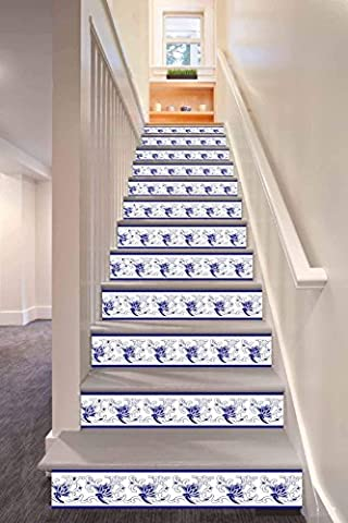Spray Pattern Staircase Stickers Waterproof 3D autocollant 6x amovible
