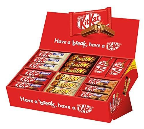 it 6 Sorten KitKat und Lion, Schokoriegel-Mix, für große und kleine Naschkatzen, schokoladige Süßigkeiten) Großpackung, Menge: 68 Riegel (2,8Kg) ()