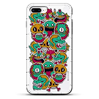 Luxendary Colorful Monsters Gorillas & Skulls Air Series Designer Case with Air-Pocket Cushions for iPhone 8/7 Plus - Clear