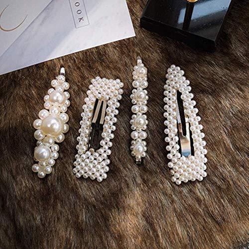 se connecter acheter luxuriant dans la conception Mollette per capelli 4Pcs, iFanze mollette per capelli perle, fermaglio  capelli sposa,mollette per capelli donna eleganti,fermaglio capelli perle,  ...