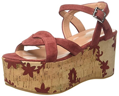 Twin-Set Damen Cs7tus Platform Sandalen Marrone (Red Sand)