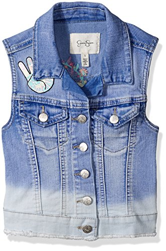 Jessica Simpson Girls' Big Pixie Embroidered Denim Vest,
