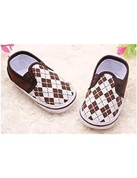 Zapato suave Basket Montante bebé de 0a 12meses, Modelo Encaje Morado 3/6Meses, 6/9Meses, 9/12Meses morado morado Talla:3/6 meses