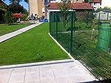 25 Meter Zaun Doppelstabmatten  Gittermattenzaun Komplettset Gartenzaun 1030mm  Hoch