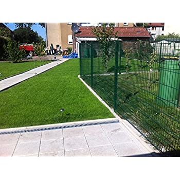 25 Meter Zaun Doppelstabmatten Gittermattenzaun Komplettset ...