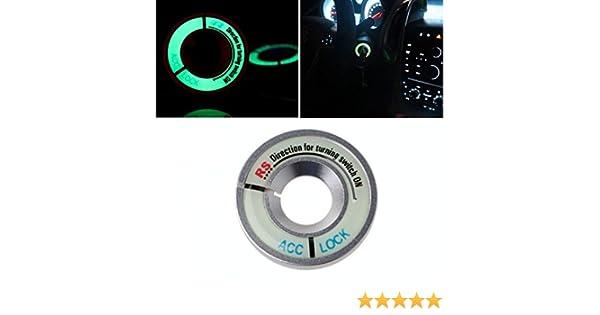 INION/® BLACK Leuchtend Z/ündschloss ABDECKUNG Ring Dekorative Aufkleber Ring Schl/üsselloch Schutz Ring Start Schalterknopf Alu Rahmen FLUORESZIEREND leuchtet im Dunkeln SCHWARZ sarachen