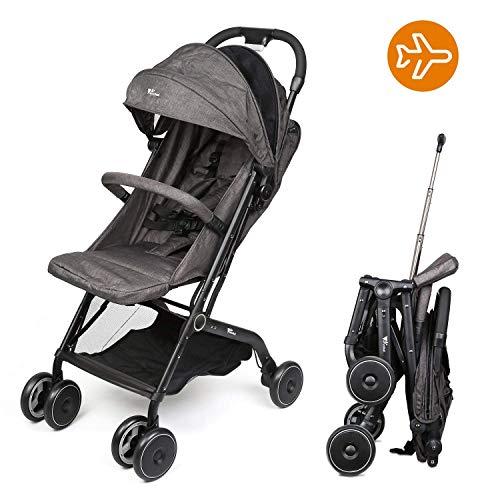 Sillas de paseo - amzdeal Sillita compacta y deportiva, de 0 meses a 25 kg, respaldo reclinable, compatible...
