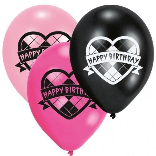 Monster High Geburtstagsparty Latex Ballons x 6 (Monster High Ballons)