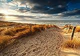 Deko-Panel, Beach gate Strand, Meer, Sand, Bild, Wandbild, Wanddeko, Wandpaneel, Wanddekoration