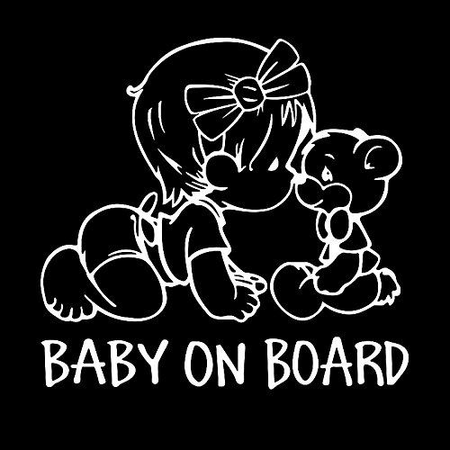 Auto Styling Aufkleber 'Baby an Bord Auto Aufkleber Vinyl Aufkleber Dekoration Film Aufkleber DIY Auto Tuning Teile (Weiß)