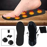 Beheizte Einlegesohle Karbonfaser Elektrische Pantoletten Clogs Fußwärmer Thermo Sohle für Schuhe Größe 38–46EVA Material Erwärmung