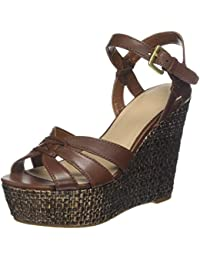 9891d38eed9ba Guess Guliver Zeppa (Wedge) Leather Scarpe col Tacco con Plateau Donna